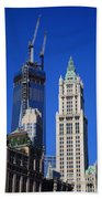 Freedom Tower And Woolworth Building Beach Towel