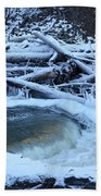 Freezing Dam Beach Towel