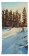 Freezing Forest Beach Towel