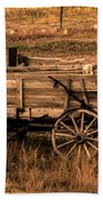 Freight Wagon Beach Towel by Robert Bales