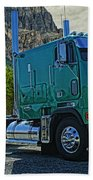Freightliner Cabover Beach Towel