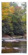French Broad River In Fall Beach Towel