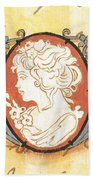 French Cameo 2 Beach Towel