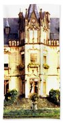 French Chateau 1955 Beach Towel