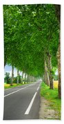 French Country Road Beach Towel