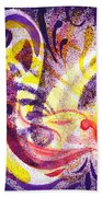 French Curve Abstract Movement II Beach Towel