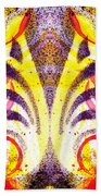 French Curve Abstract Movement Vi Mystic Flower Beach Towel