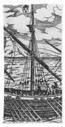 French Galley Operating In The Ports Of The Levant Since Louis Xi  Beach Towel