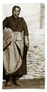 French Lady With A Very Large Bread France 1900 Beach Towel