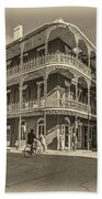 French Quarter Afternoon Sepia Beach Towel