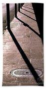 French Quarter Sidewalk Shadows New Orleans Beach Towel