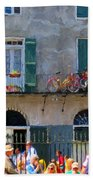 French Quarter Stroll 2 - New Orleans Beach Towel