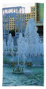 French Quarter Water Fountain Beach Towel