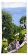 French Riviera Beach Towel