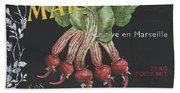 French Veggie Labels 2 Beach Sheet