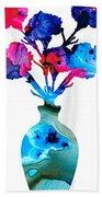 Fresh Cut - Vibrant Flowers Floral Painting Beach Towel