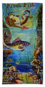Fresh Fish Beach Towel