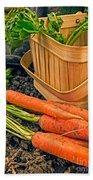 Fresh Garden Vegetables Beach Sheet