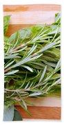 Fresh Herbs Beach Towel