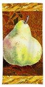 Fresh N Happy Pear Decorative Collage Beach Towel