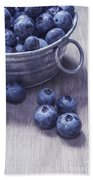 Fresh Picked Blueberries With Vintage Feel Beach Towel