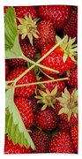 Fresh Picked Strawberries Beach Towel