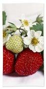 Gardenfresh Strawberries Beach Towel