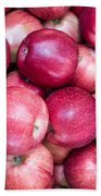 Fresh Red Apples Beach Sheet