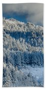 Fresh Snow On The Mountain Beach Towel