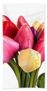 Fresh Spring Tulip Flowers Beach Towel