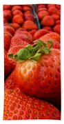 Fresh Strawberries Beach Towel by Peggy Hughes