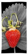 Fresh Strawberry And Leaves Beach Towel
