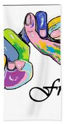 Friends . . . An American Sign Language Painting Beach Towel by Eloise Schneider