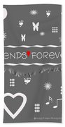 Friends Forever Valentine Beach Towel