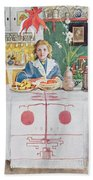 Friends From The Town - Dining Room Beach Towel