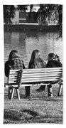 Friends In Black And White Beach Towel