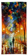 Friendship - Palette Knife Oil Painting On Canvas By Leonid Afremov Beach Towel