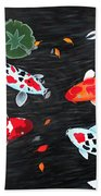 Friendship Underwater Big Commissioned Painting Beach Towel