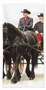 Friesian Carriage Beach Towel