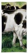 Friesian Cows Beach Sheet
