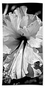 Frills And Hibiscus Flowers Beach Towel