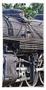 Frisco Train Locomotive Three Beach Towel