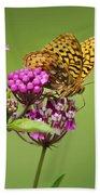 Fritillary Butterfly Square Format Beach Sheet