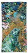 Frog And Fly Beach Towel