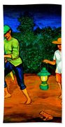 Frog Hunters Beach Towel