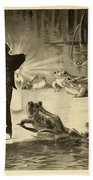 Frogs And Candle Beach Towel