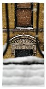 From My Fire Escape - Arches In The Snow Beach Towel