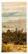 From Top Of The Mountain At Joshua Tree National Park Beach Towel