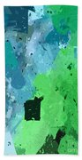 From Winter Blues To Spring Greens Beach Towel by Heidi Smith