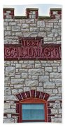 Front Of Calumet Hotel-1887  In Pipestone-minnesota Beach Towel